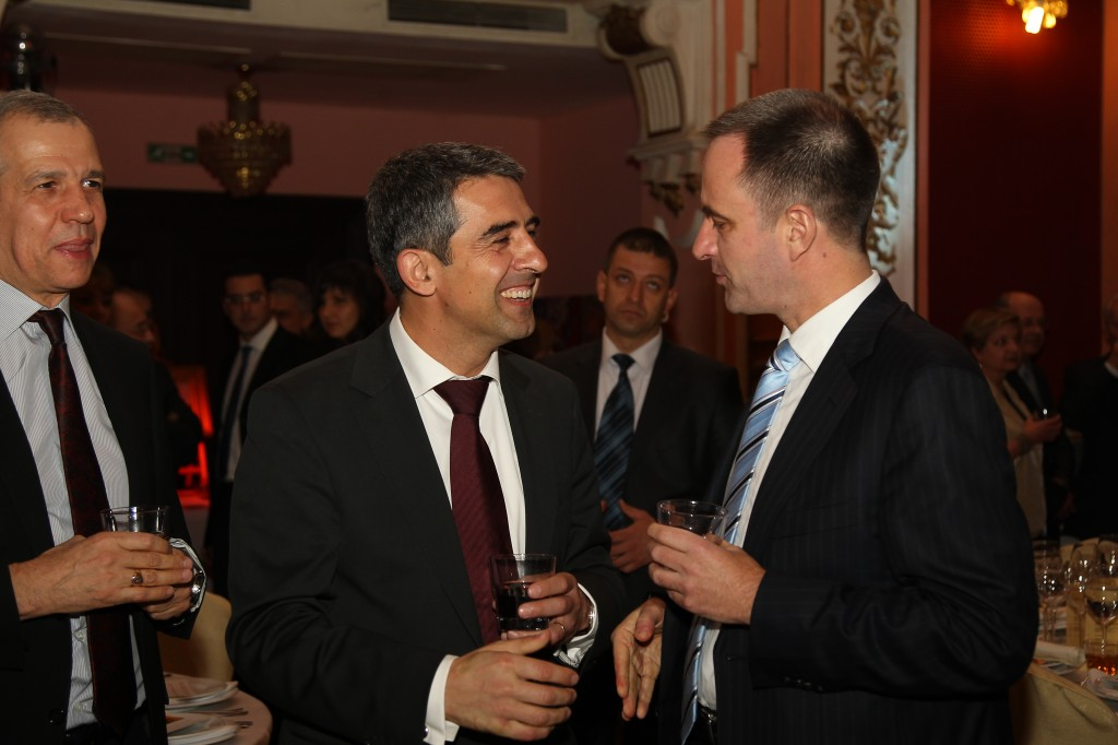 Our Managing Partner, Borislav Boyanov, with President-elect Rosen Plevneliev and Alex Nestor, Corporate and Foreign Relations Director for Bulgaria of Dundee Precious Metals, at the Thanksgiving community dinner organised by the American Chamber of Commerce in Bulgaria on 22nd November 2011